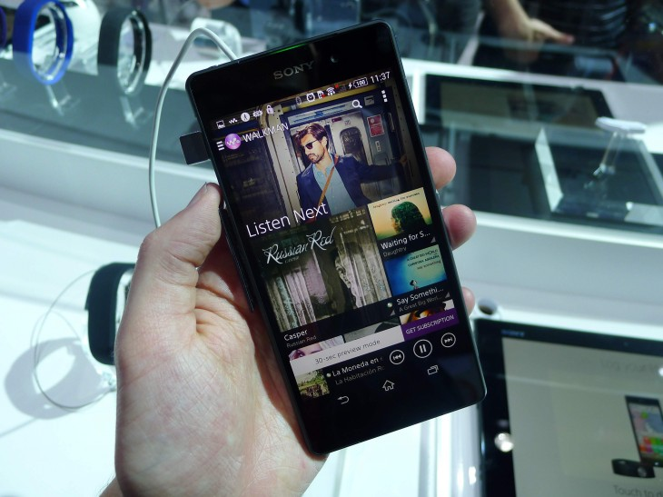 xperiawalkman 730x547 Sony Xperia Z2 hands on: A promising contender for the Samsung Galaxy S5