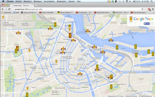 001 520x325 Google Naps: a parody of Google Maps that helps you find the best places for a snooze