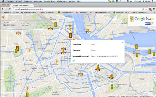 002 520x325 Google Naps: a parody of Google Maps that helps you find the best places for a snooze