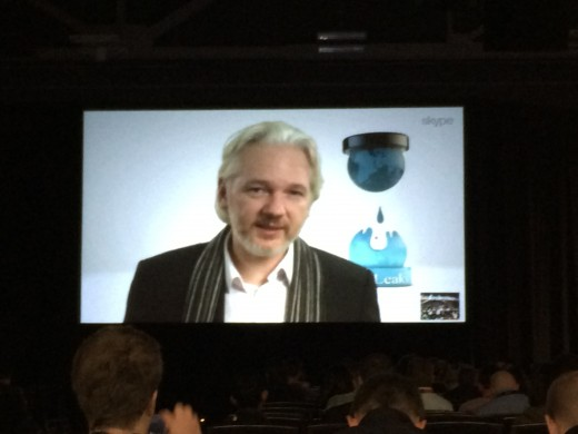 2014 03 08 11.56.17 520x390 Julian Assange rails against NSA surveillance as he plans an important new WikiLeaks release