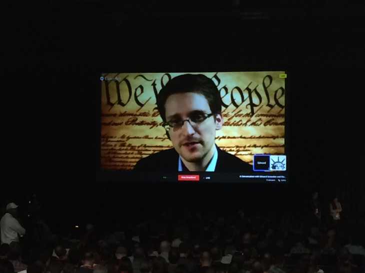 2014 03 10 11.36.48 730x547 Edward Snowden addresses SXSW, arguing that his actions were in defense of the US constitution