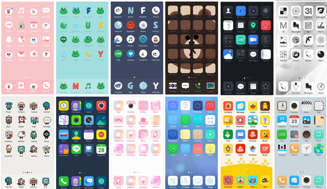 3f203673 Line now lets you replace your boring iOS or Android app icons with its cartoon figures