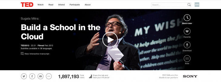 5a Sugata Mitra watch later 730x272 TED.com revamped with new video player, watch later option, dynamic transcripts and more