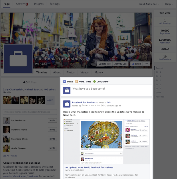 851548 692609370790074 1098793078 n Facebook revamps Pages on the desktop with new one column Timeline design to match user profiles