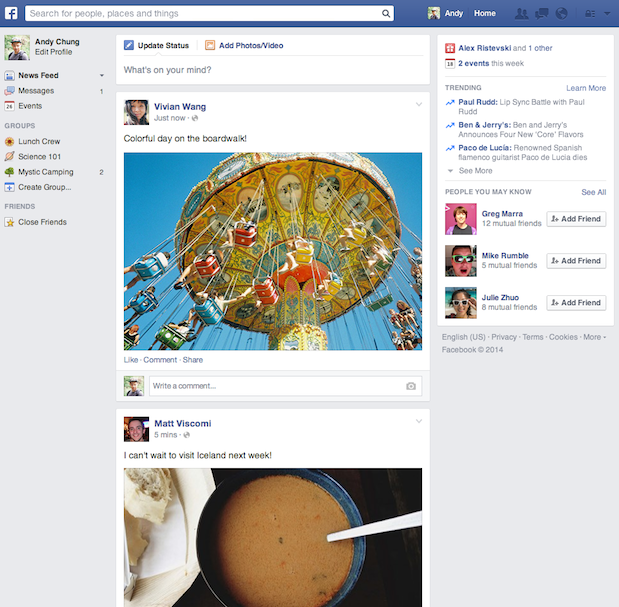 851582 1392449354359760 1744897451 n Facebook launches an improved version of the News Feed redesign teased last year