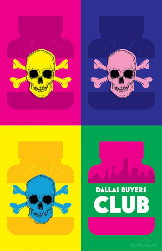 Dallas Buyers Club 520x803 Oscar pop! A pop art spin on the 2014 Academy Award nominees