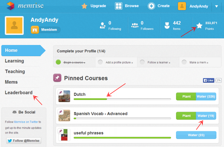 Dashboard Memrise 730x480 Overcoming the user engagement crisis with gamification