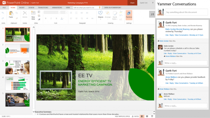 ES 09 resized 730x410 Microsoft details social Office Graph updates coming to Office 365 in 2014