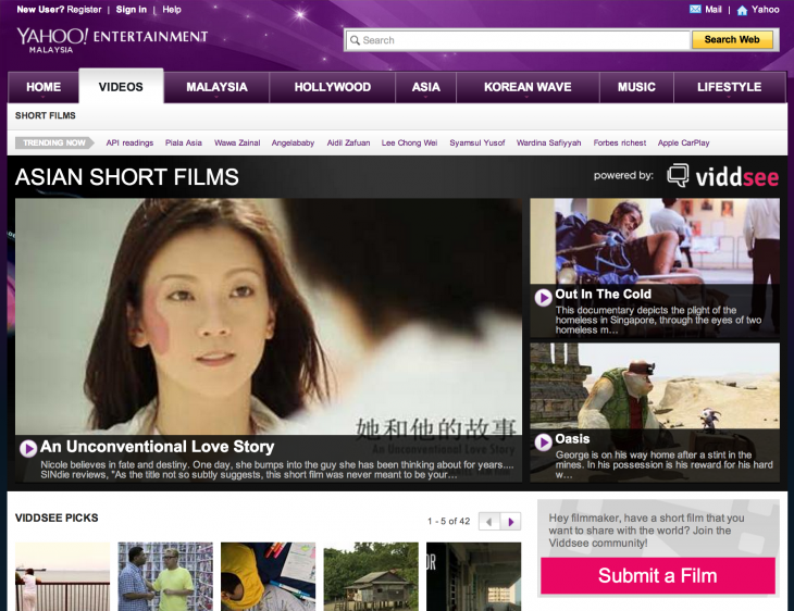 Malaysia 730x562 Short film site Viddsee inks partnership with Yahoo to bring its films to more users in Asia