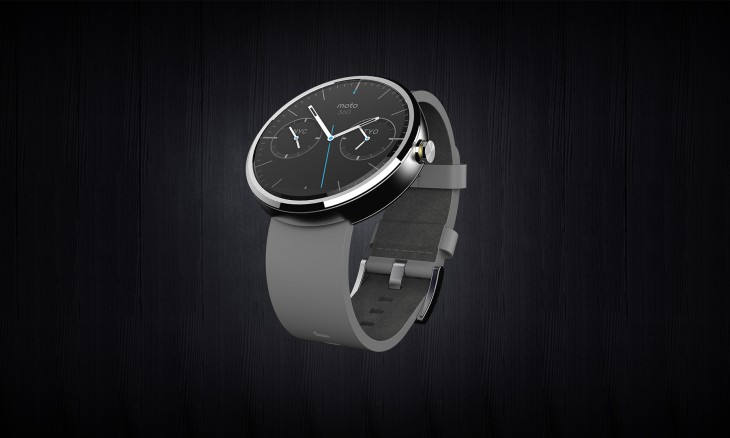 Moto360 Hero full view Leather RGB 730x438 Motorola unveils the Moto 360, its first smartwatch running Googles new Android Wear platform