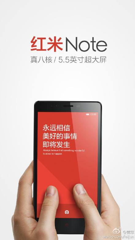 Redmi Note Xiaomi confirms its Redmi Note phablet will start at $129, go on sale outside of China from May