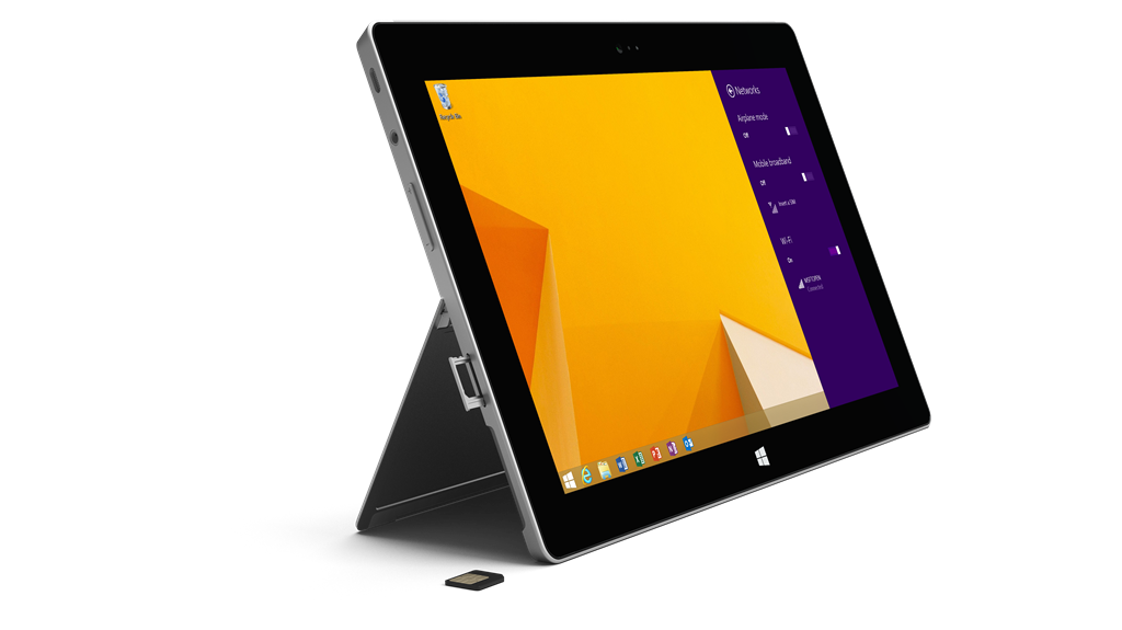 S2 Cellular SIM Card Networks 7C04DA77 Microsoft announces 64GB Surface 2 with 4G LTE on AT&T, available for $679 at Microsoft Stores and Best Buy