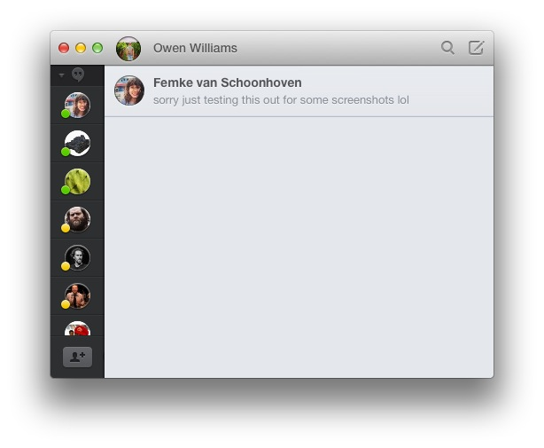 Screen Shot 2014 03 09 at 11.56.26 am Review: Flamingo for Mac is a better way to use Google Hangouts