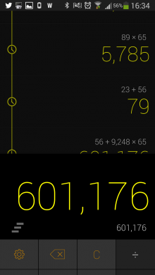 Screenshot 2014 03 05 16 35 00 220x391 CALCU is a sweet, gesture based calculator for Android