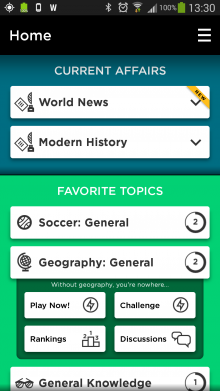 Screenshot 2014 03 06 13 30 59 220x391 QuizUps uber popular trivia app finally arrives for Android