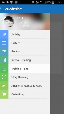 Screenshot 2014 03 25 15 26 52 220x391 Runtastic overhauls its GPS fitness tracking app, and now tells you how much water to drink