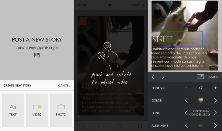 Steller 1 730x431 Steller is a beautiful visual storytelling app, similar to Storehouse, but for your iPhone instead