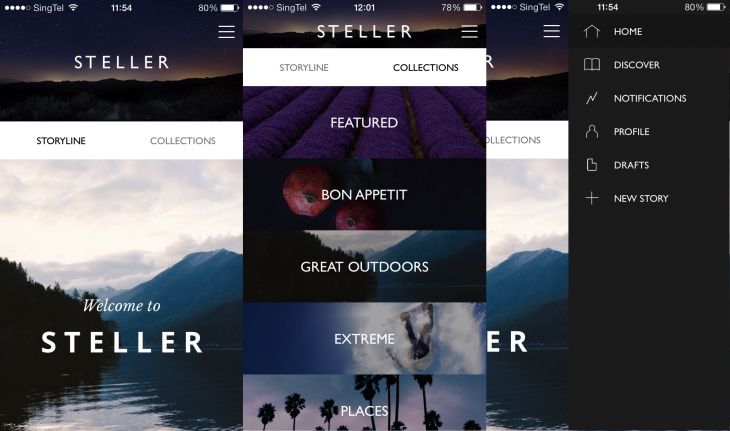 Steller 3 730x431 Steller is a beautiful visual storytelling app, similar to Storehouse, but for your iPhone instead
