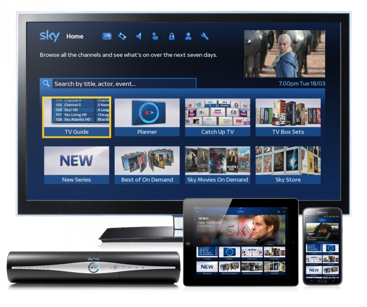 TV Home page across devices1 730x610 New Sky+ EPG homepage rolling out today, makes it easier to find on demand content alongside live TV