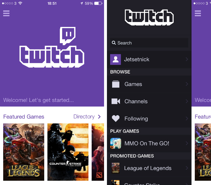 Twitch1 Twitch for iOS app revamped with an iOS 7 redesign, better search and chat options