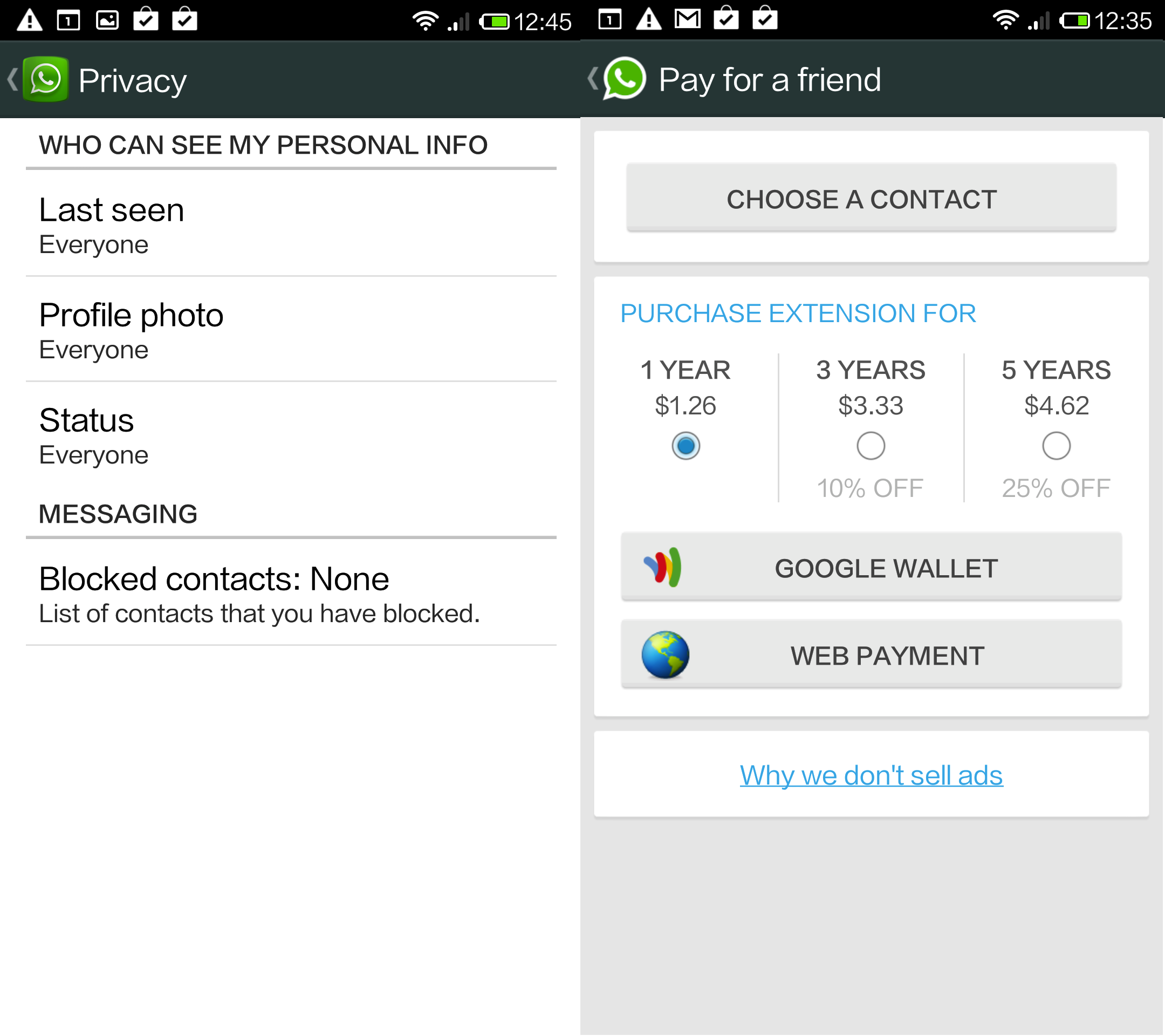 WhatsApp for Android gets new privacy settings and lets ...