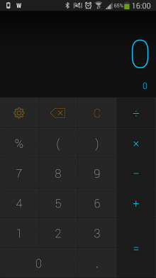 a2 220x391 CALCU is a sweet, gesture based calculator for Android