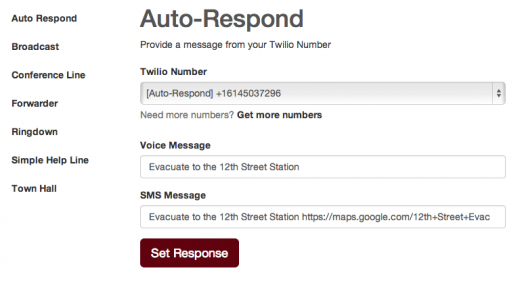 auto respond 520x283 Twilio's social good foundation releases an open source toolkit for rapid emergency response