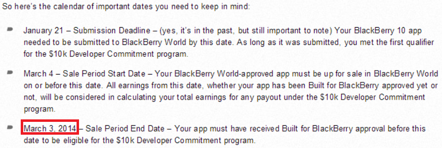 bb original BlackBerry changes approval date for its BlackBerry 10 app incentive program, enrages unpaid developers (Updated)
