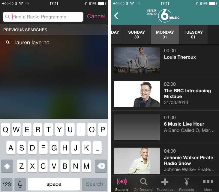 bbcradio2 BBCs iPlayer Radio app gets favorites with BBC iD syncing, recent searches, and more