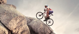 bicycling uphill