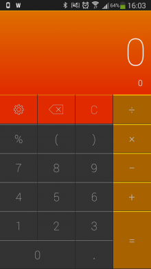c2 220x391 CALCU is a sweet, gesture based calculator for Android