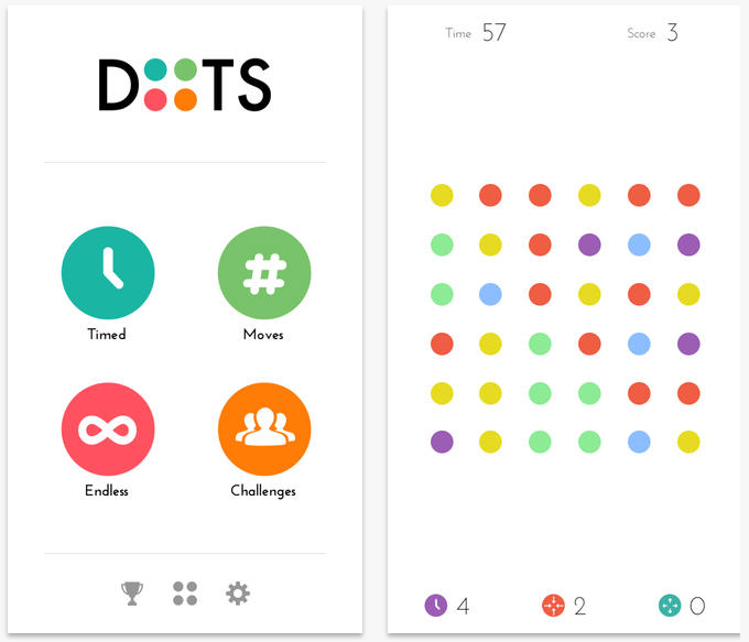 dots Dots, the addictive mobile game, now lets you compete head to head with friends