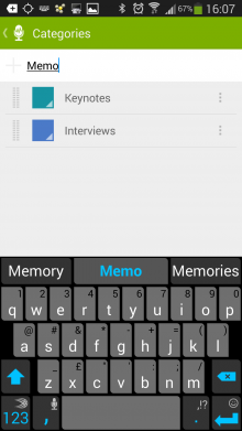 e3 220x391 Recordense for Android is a stylish recorder for annotating audio with notes