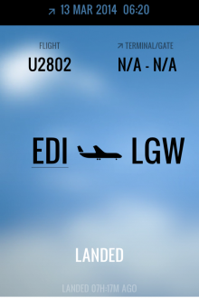 e4 220x330 This gorgeous iPhone app displays real time flight status and corresponding weather conditions