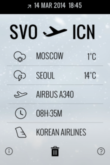 f4 220x330 This gorgeous iPhone app displays real time flight status and corresponding weather conditions
