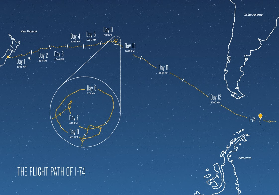 flightpath jul1 c2 Track Googles Project Loon Internet balloons in real time as they travel the world