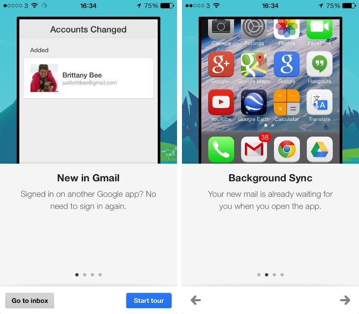 gmail1 Gmail for iOS updated with background refresh and simplified sign in across other Google apps
