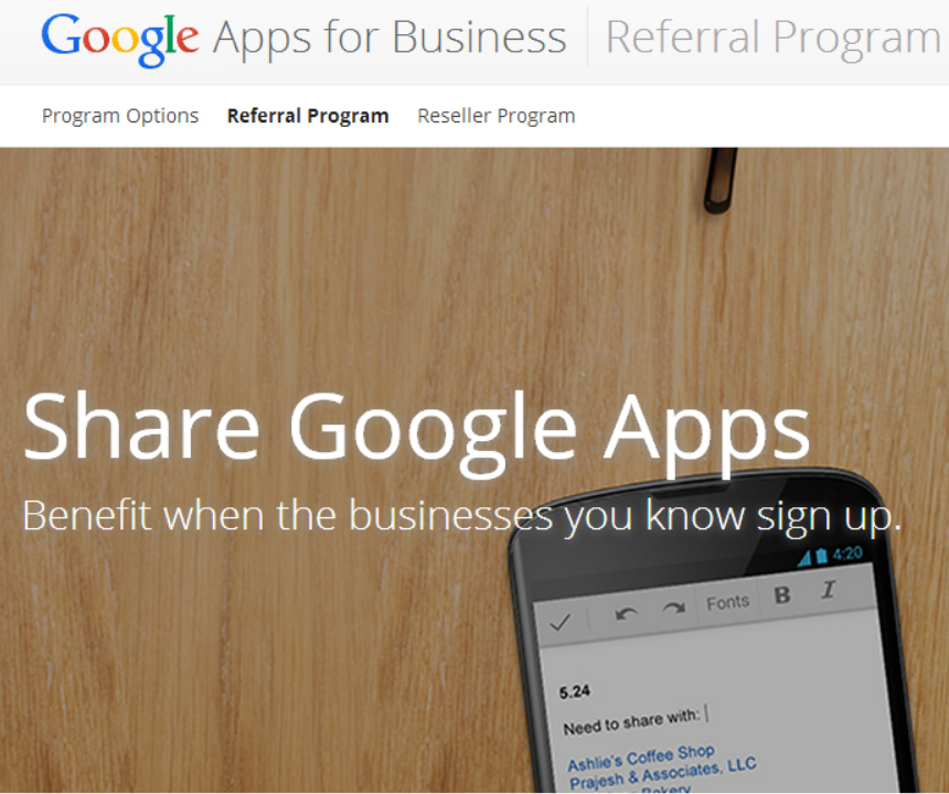 google apps referral program Google launches referral program for Google Apps, offers $15 for each new user you convince to sign up