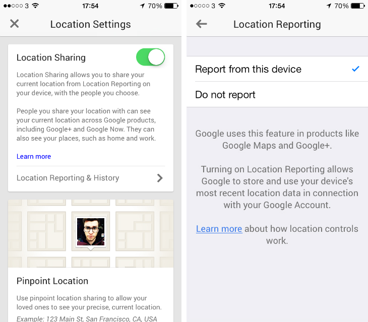 gplus3 Google+ for iOS gets Community post pinning, Whats Hot topics and granular location settings