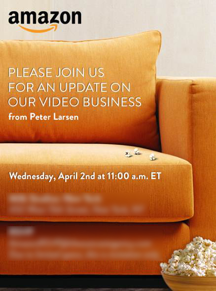 Amazon to host an event for its video business on April 2, could feature its TV streaming box