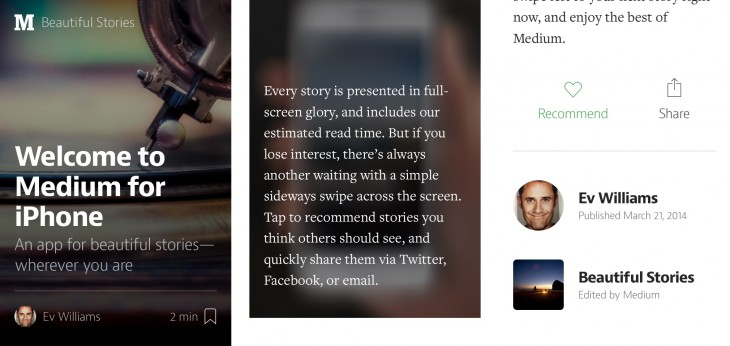img1 730x346 Publishing platform Medium launches a read only app for iOS