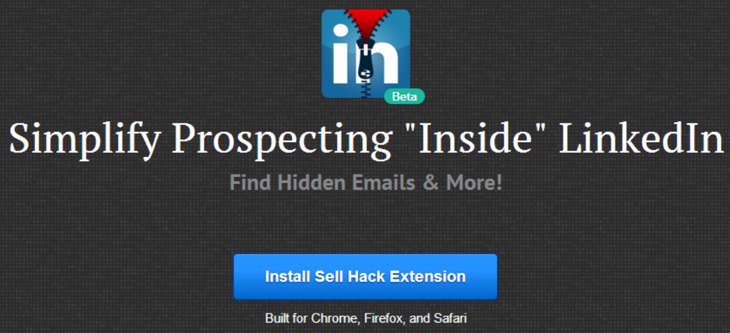 linkedin sell hack LinkedIn sends cease and desist to Sell Hack, which lets you see anyones email address on the service