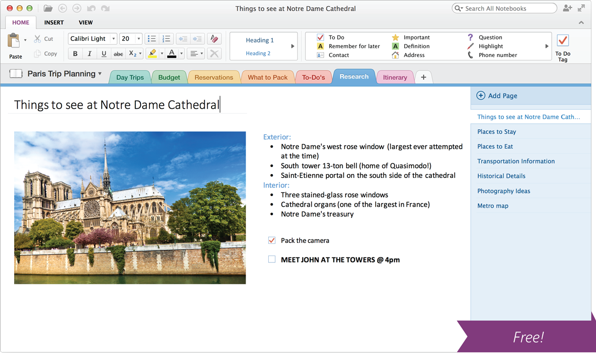 Microsoft Launches Free OneNote for Mac and Windows