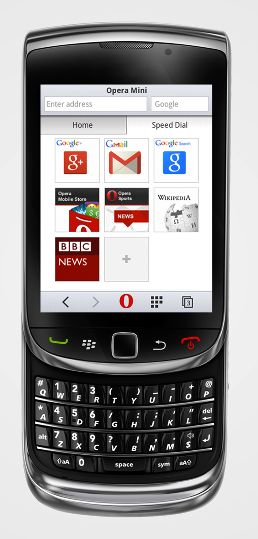 opera mini 8 screenshot g speed dial Opera Mini 8 sports a new look for basic phone users, tacks on private and night modes