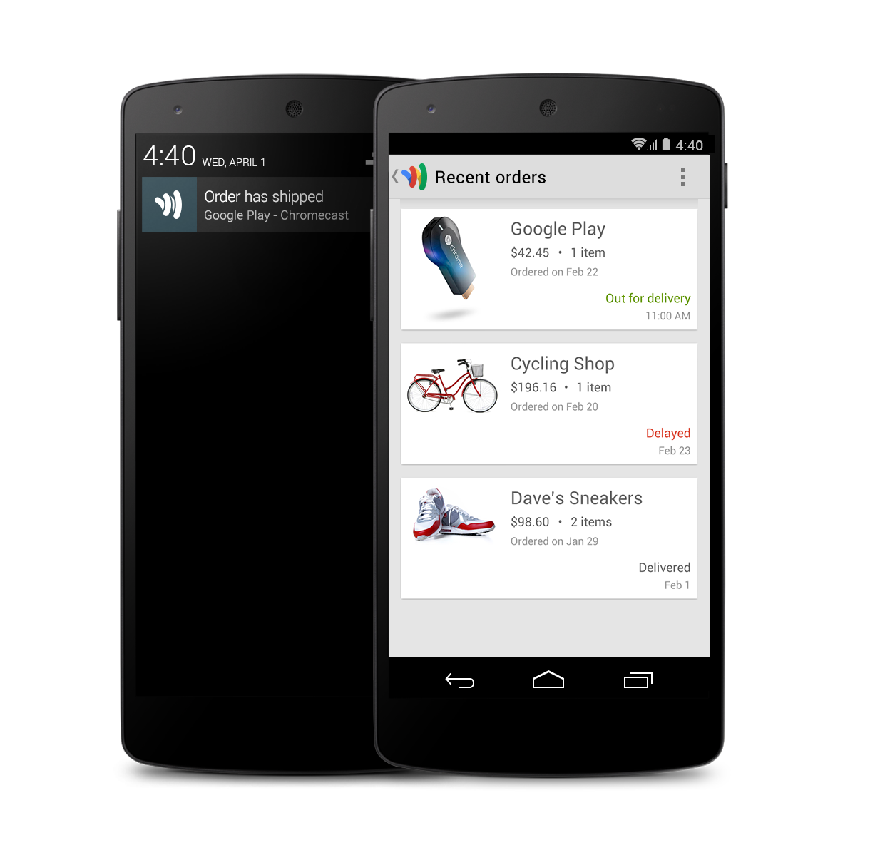 ordersblog Google Wallet for Android and iOS now lets you track your current and past online orders