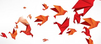 paper origami birds