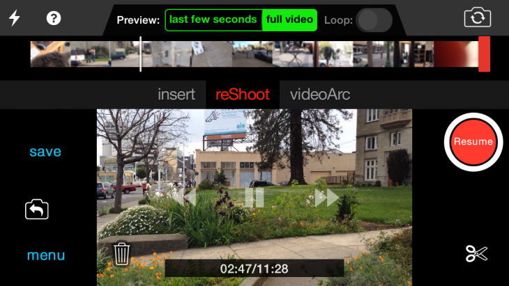 photo11 730x411 reShoot for iPhone gives you a second chance at movie magic