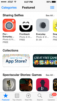 photo3 220x390 Apples iOS App Store spotlights the selfie
