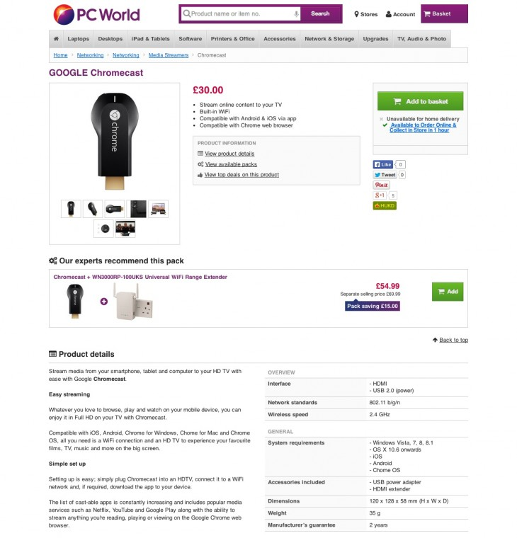 resource 11 730x760 Google Chromecast listed on PC World and Currys for £30, pointing to imminent UK launch