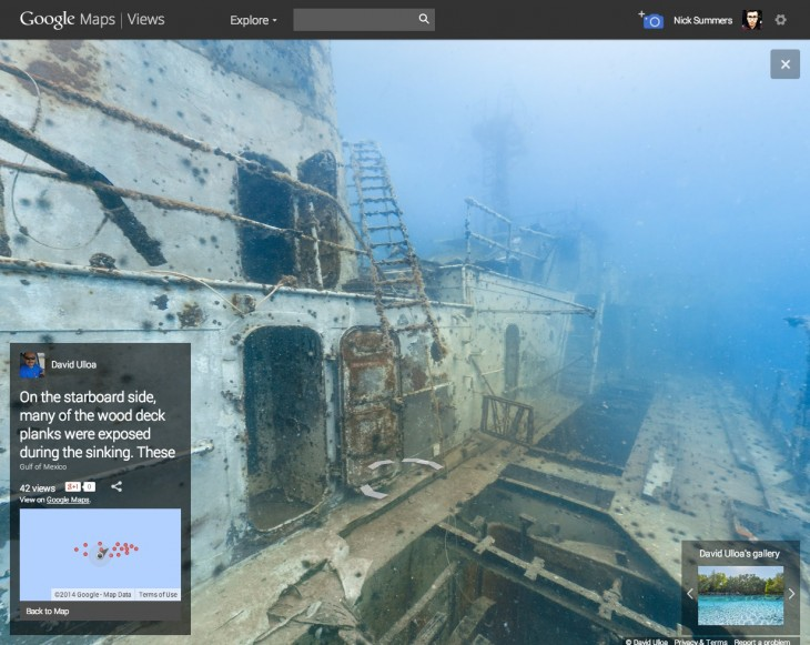 resource 12 730x581 Explore the sunken USS Mohawk with these stunning underwater Street View photos